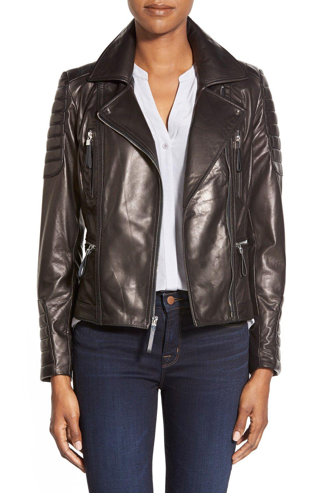Vince Camuto Lambskin Leather Moto Jacket Nordstrom Lambskin Leather Leather Jacket Men Leather Moto Jacket [ 1687 x 1100 Pixel ]
