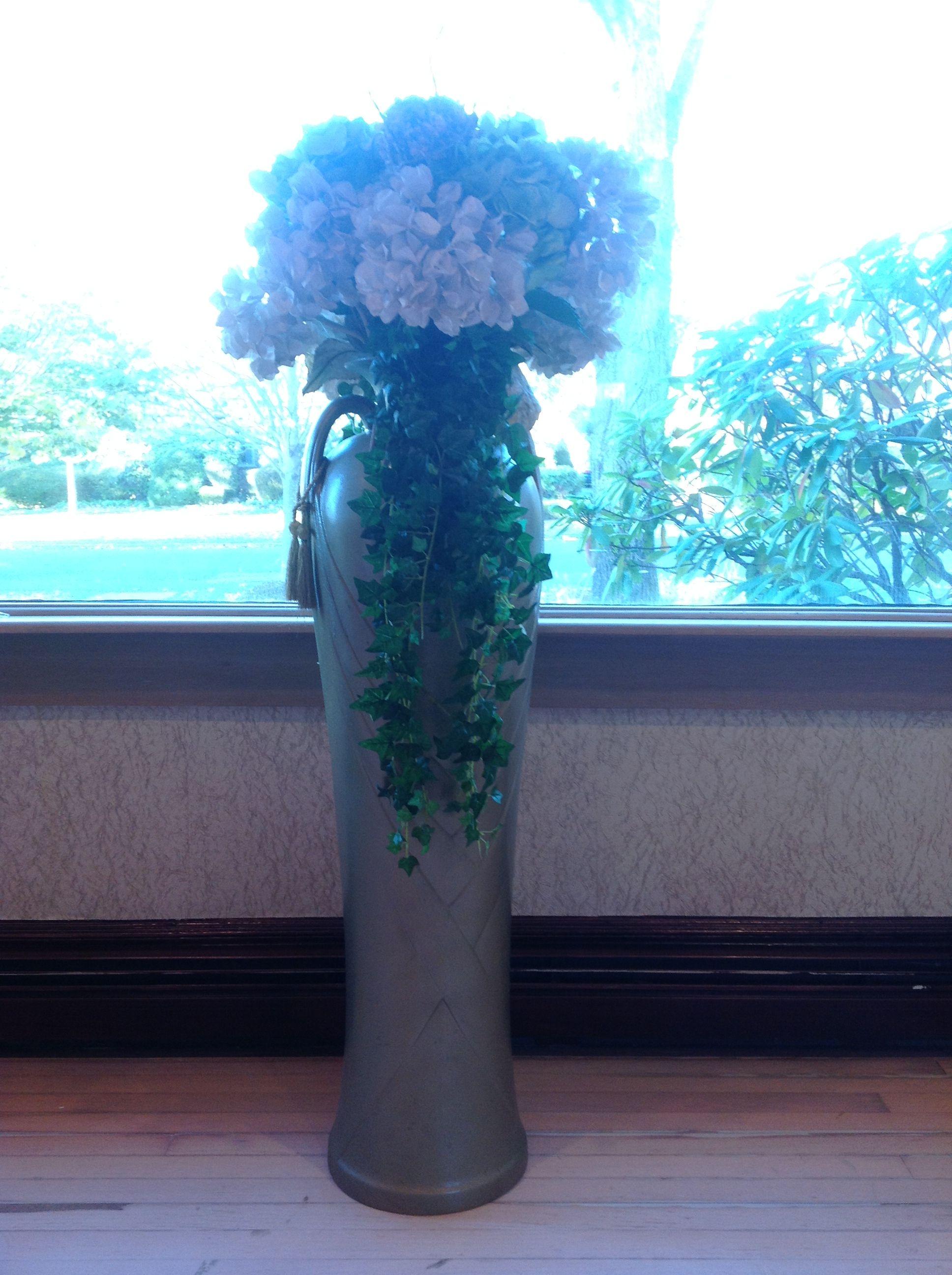 My floor vase filled with dried cream hydrangea flowers | My Living on fruit vase, colored pencil vase, hyacinth vase, warrior vase, hydro vase, orange poppy vase, hibiscus vase, gardenia vase, lily vase, peony vase, rubin's vase, geometric vase, the blue vase, iron wall vase, lilies of the valley vase, succulent vase, bonsai vase, wedding bouquet vase, curly willow vase, wisteria vase,