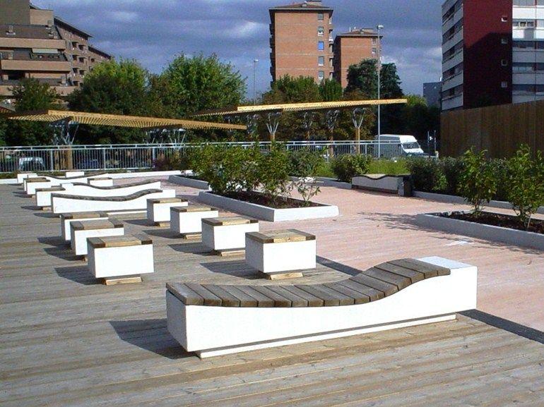 panchina senza schienale by adf arredo urbano