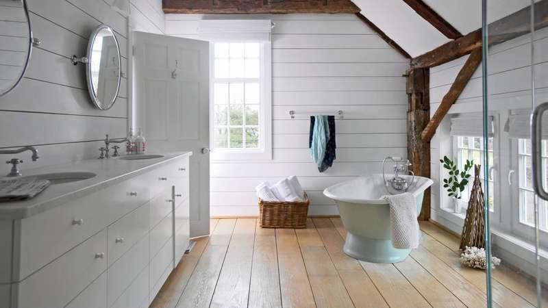 Vintage Cottage Style Master Bath Beach Nautical Home