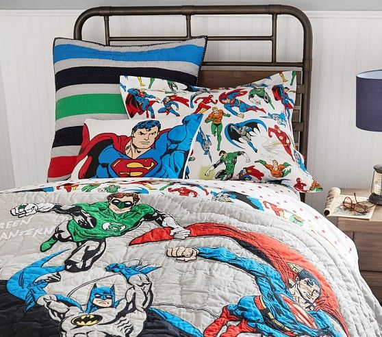 Justice League™ Quilted Bedding **Oliver's Room