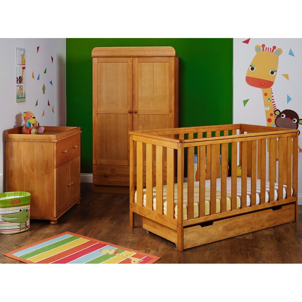 OBaby York 3 Piece Furniture Set (Country Pine) | Beautiful Baby ...