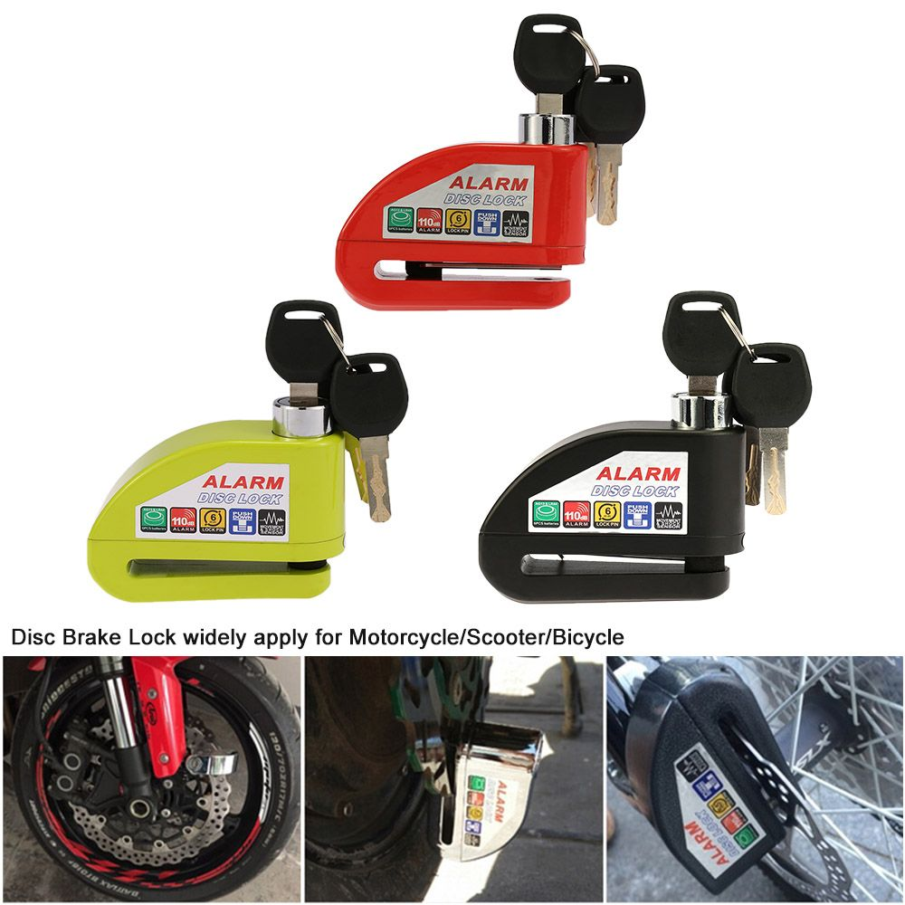 Anti-theft Disc brake lock Alarm Security Padlock For Motorcycle Scooter Bicycle