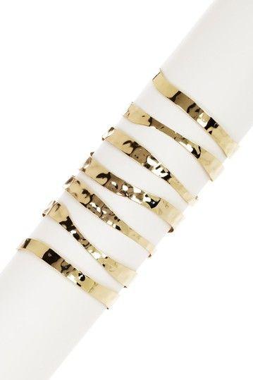 Eva Hammered Cuff Bracelet by Cam & Zooey on @HauteLook
