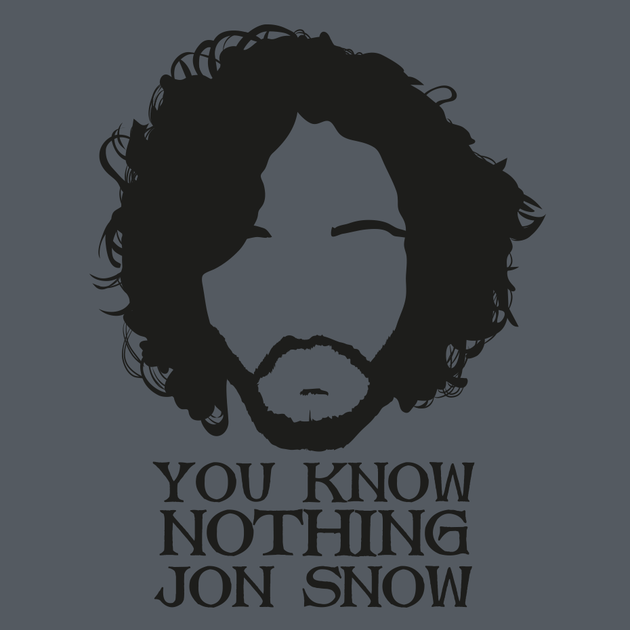 You Know Nothing Jon Snow T Shirt By Inner Coma Clothing Co