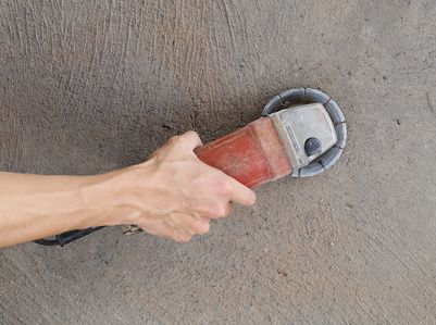 It Might Be Possible To Sand Concrete Down By Hand Or You Might Need A Concrete Polisher E Sanding Concrete Floors Concrete Grinder Polished Concrete Flooring