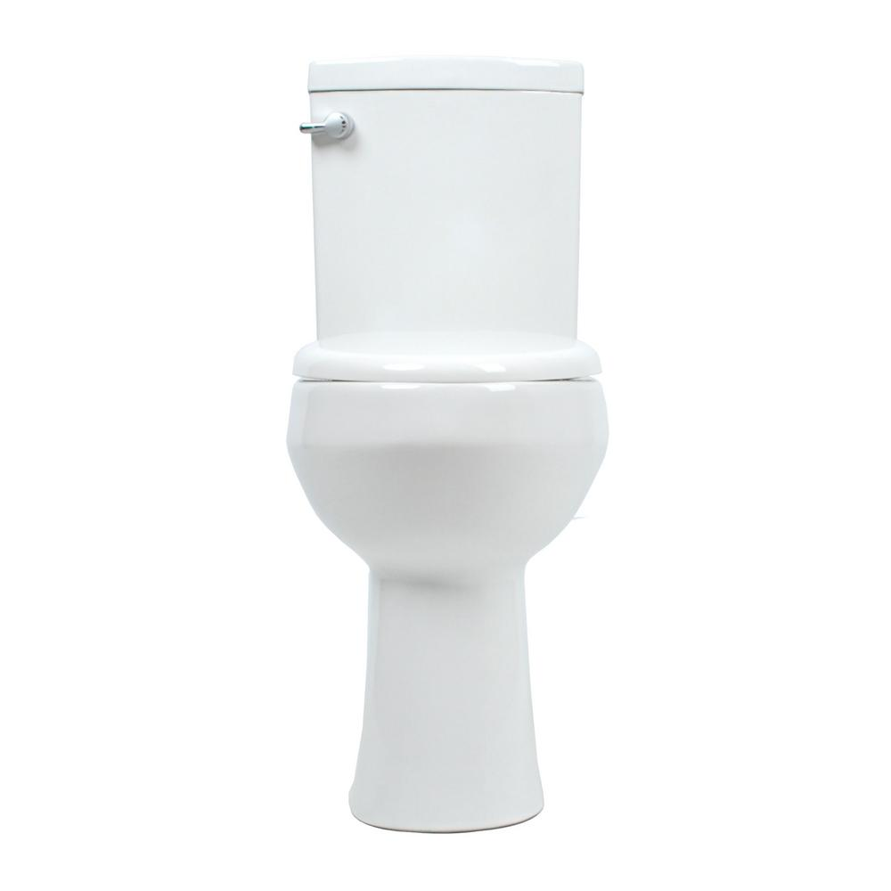 Convenient Height 2 Piece 1 28 09 Gpf Dual Flush Elongated 20 In Extra Tall Toilet In White Seat Included Model S The Home Depot Tall Toilets Elongated Toilet