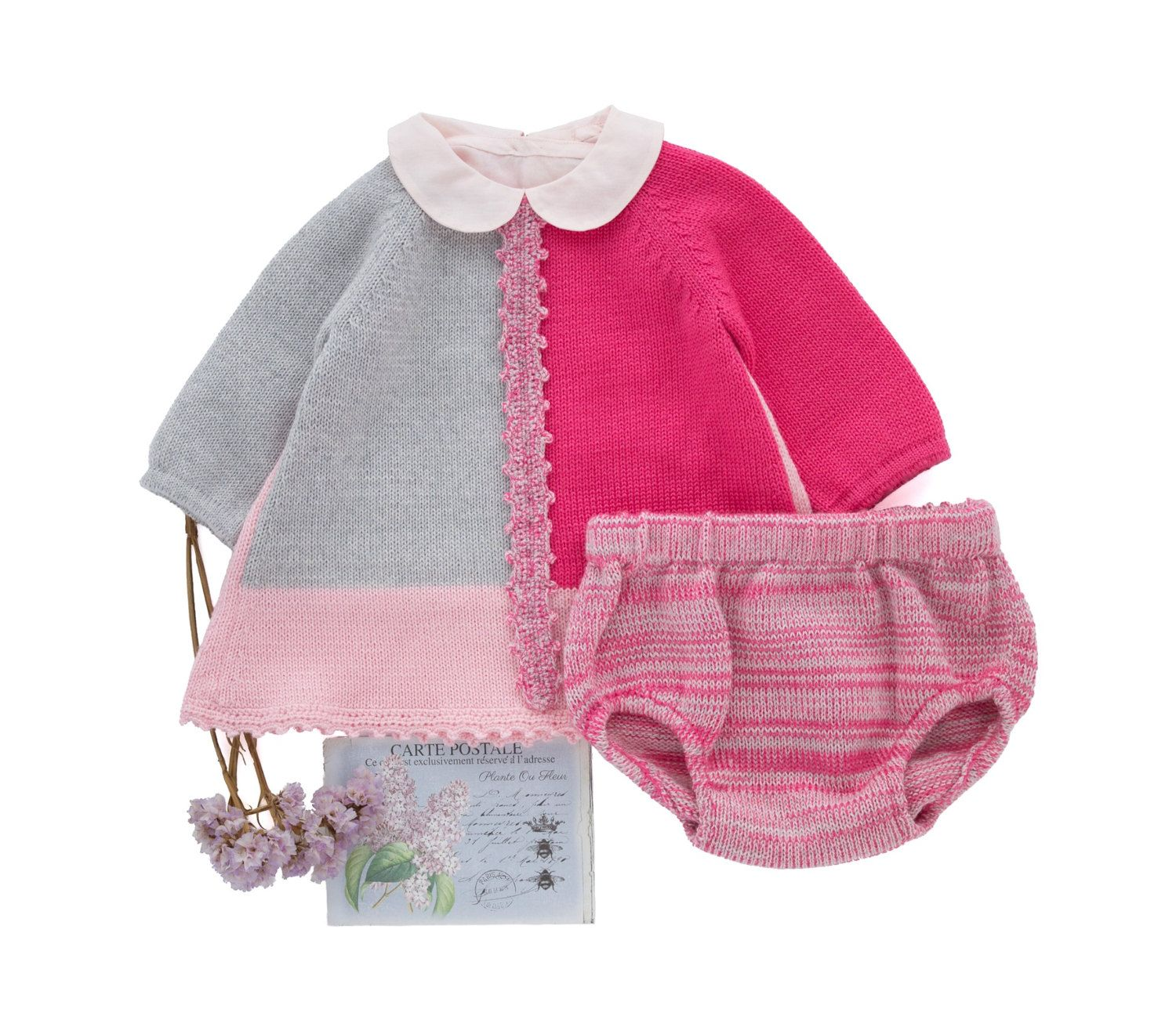 Knitted baby dress set baby dress outfit home ing dress knitted