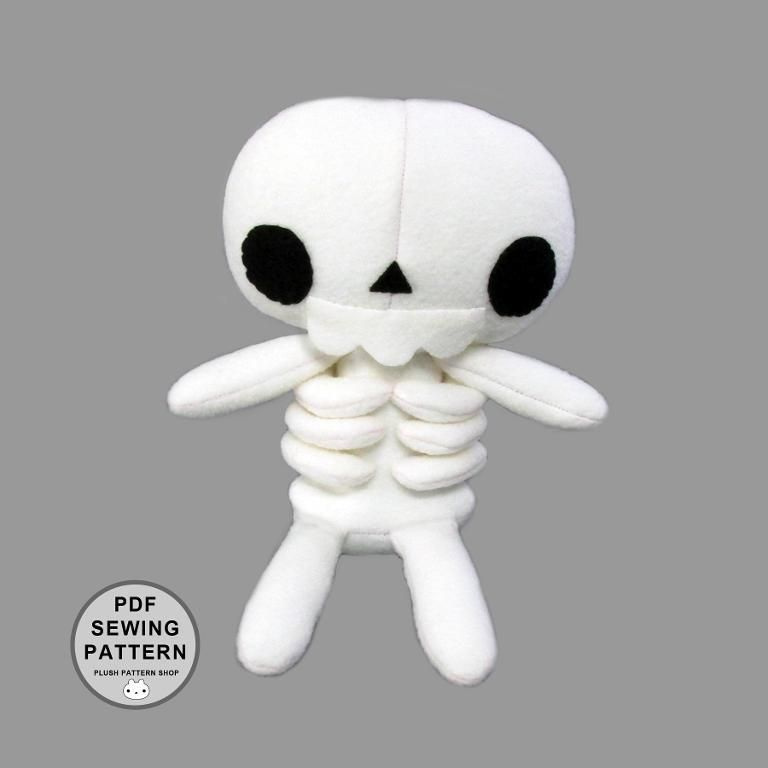Skeleton Plush Toy Pattern And Tutorial Sewing Pinterest