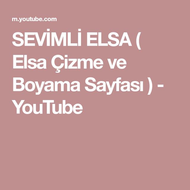 Sevimli Elsa Elsa çizme Ve Boyama Sayfası Youtube Coloring