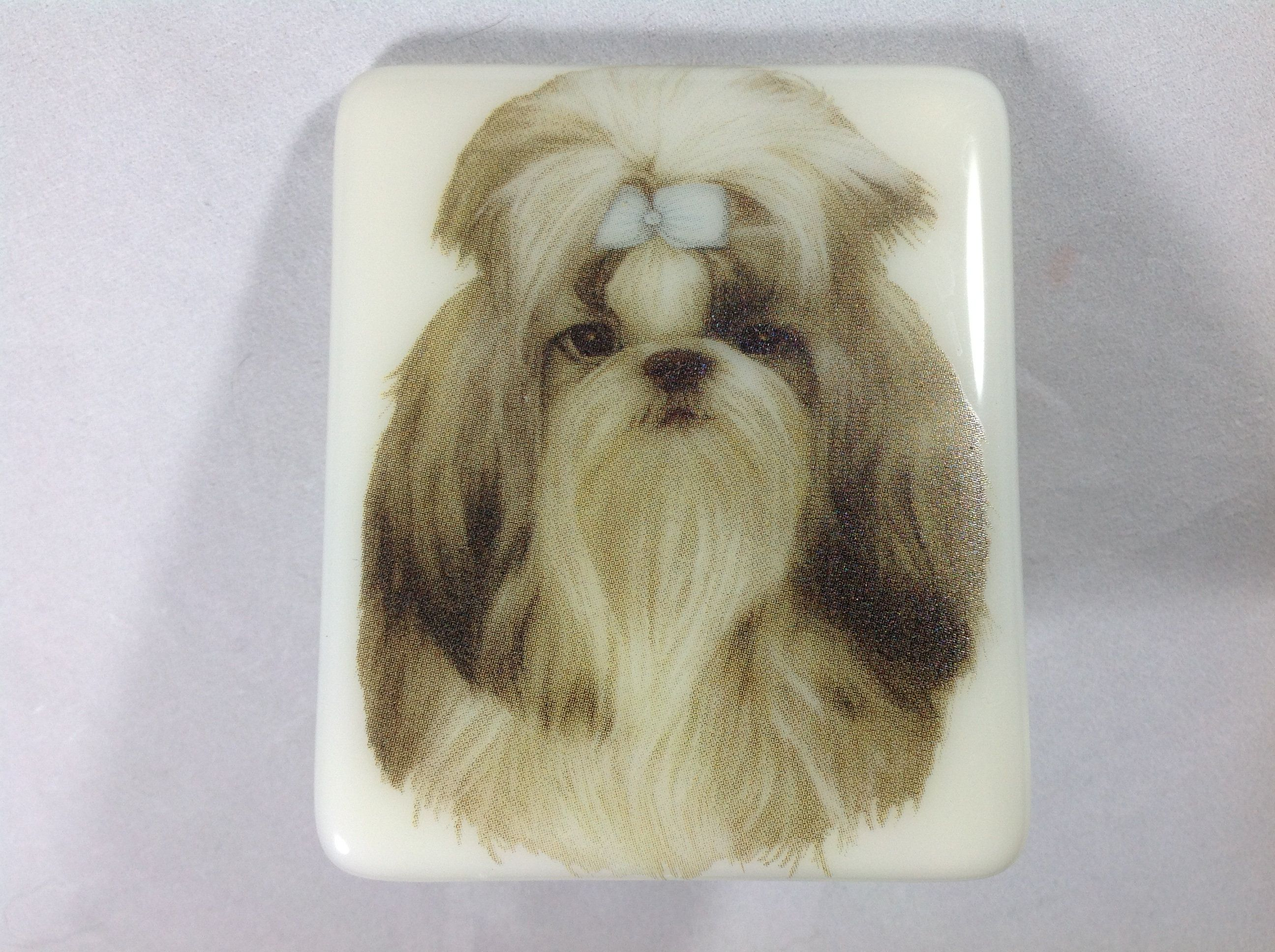 Shih Tzu Dog Wall Plug in Night Light in Fused Glass | Etsy