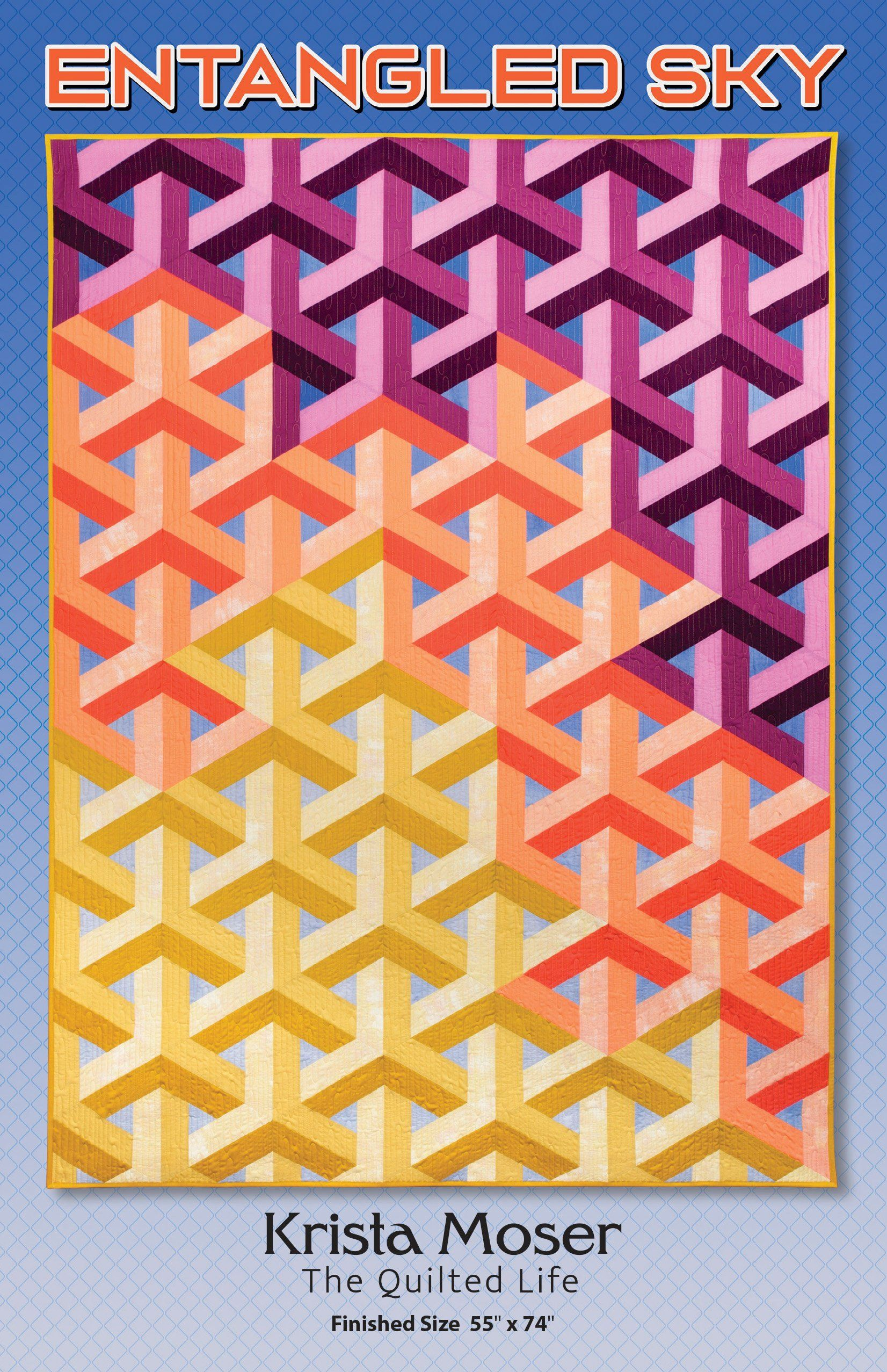 Entangled Sky, Krista Moser, The Quilted Life, Modern Quilt