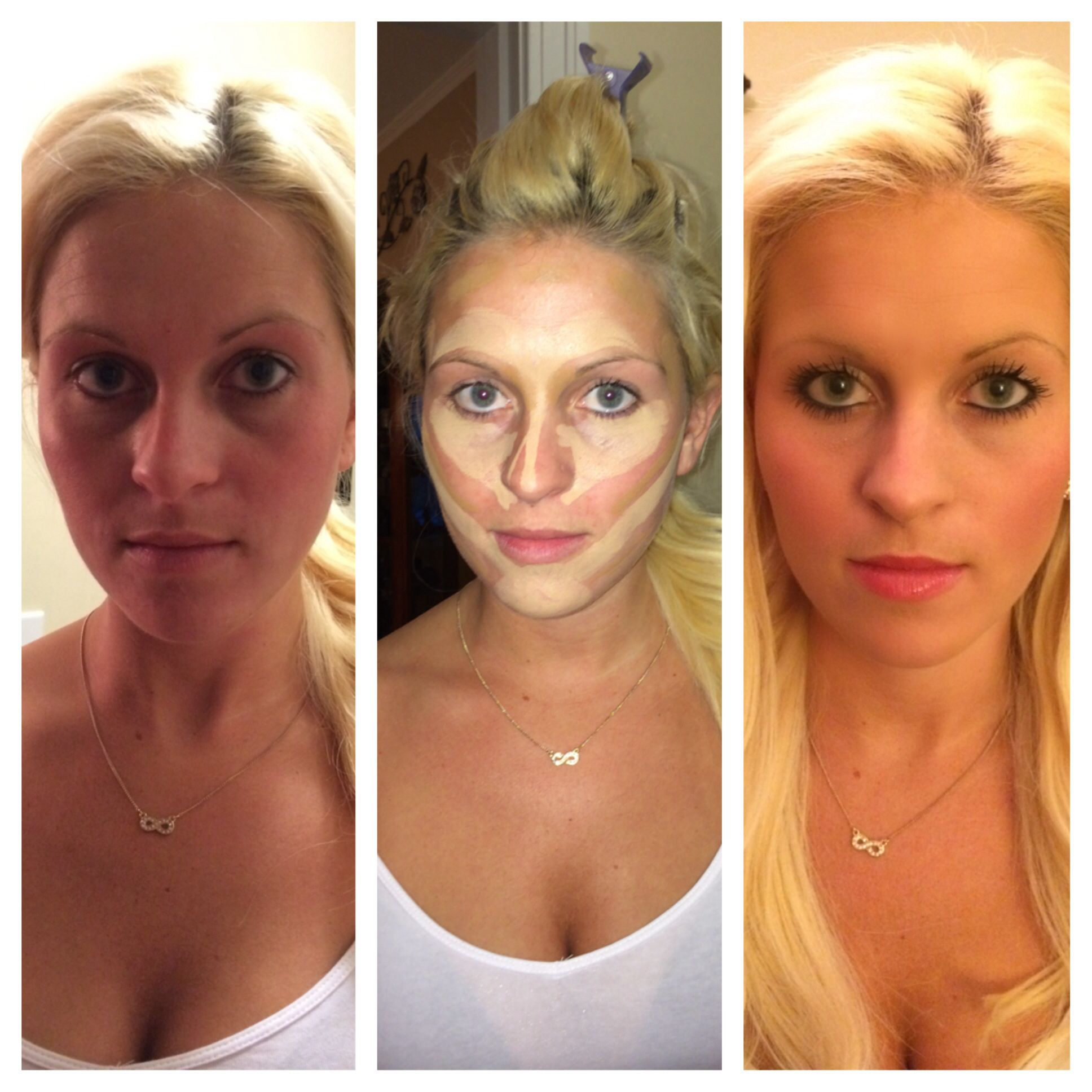 Contouring Make Your Face Look Flawless You Can Use Your Choice Of Make Up But I Used Rimmel Fix Perfect Primer Which Contour Brush Hair Beauty Hair Makeup