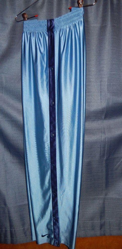 a2c0b0eeb8805b Vintage Nike Team Snap Tearaway Basketball Pants Carolina Blue XXL 1990 s   Nike  Pants