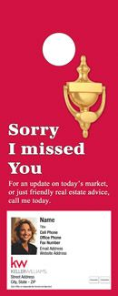 Keller Williams Market Analysis Door Hangers Approved Vendor - Real estate door hanger templates
