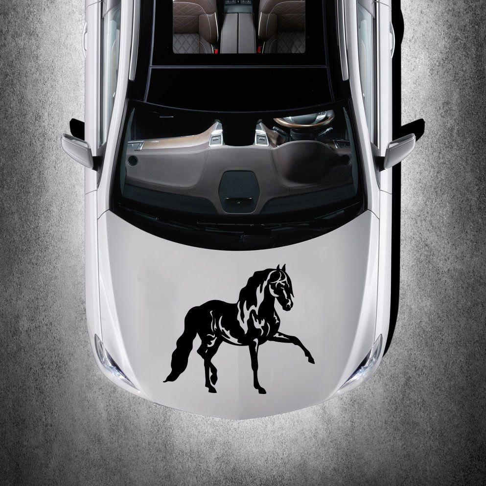 HORSE MUSTANG ANIMAL CUTE DESIGN HOOD CAR VINYL STICKER DECALS GRAPHICS SV3726