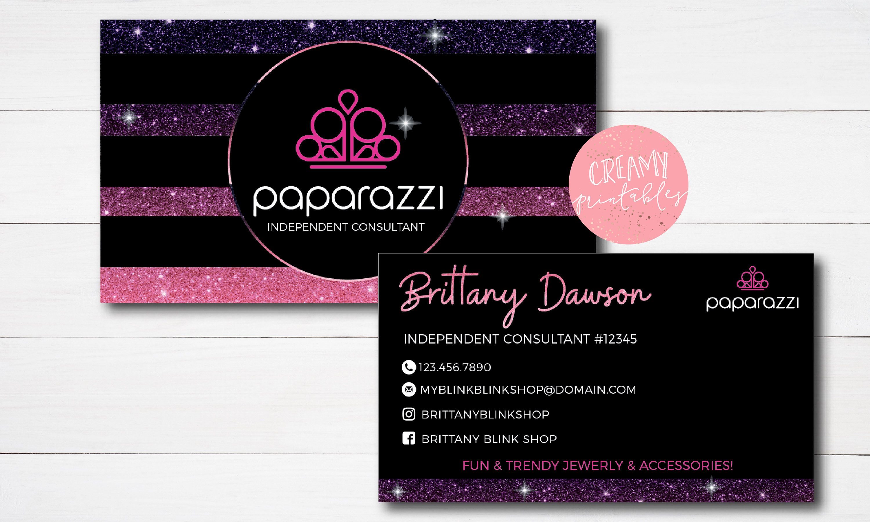 Paparazzi Business Cards Free Personalized Paparazzi Jewelry Consultant Card Free Business Card Templates Printing Business Cards Vistaprint Business Cards