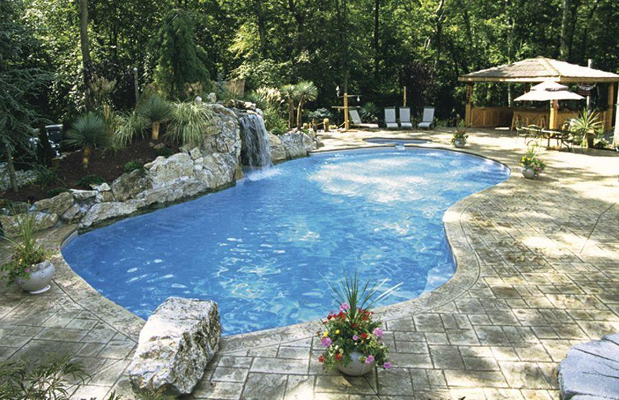 Small Yard Small Pool - 25 Tiny Pools | InTheSwim Pool Blog |Small Freeform Pools With Waterfalls