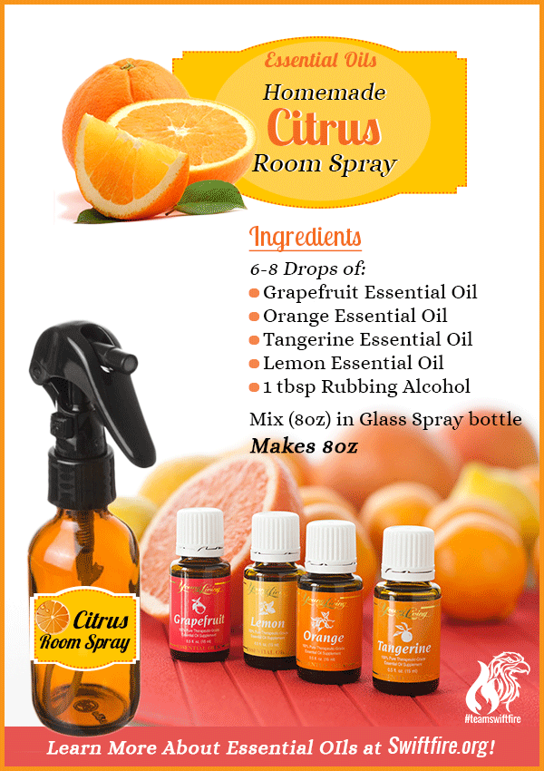 Young Living Essential Oils: Citrus Room Spray And Air Freshener