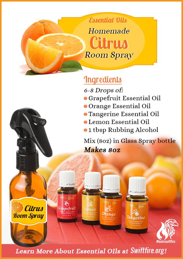 Diy Citrus Room Spray And Deodorizer Recipe With Essential Oils Swiftfire International Essential Oils Room Spray Essential Oil Spray Recipes Essential Oils Cleaning