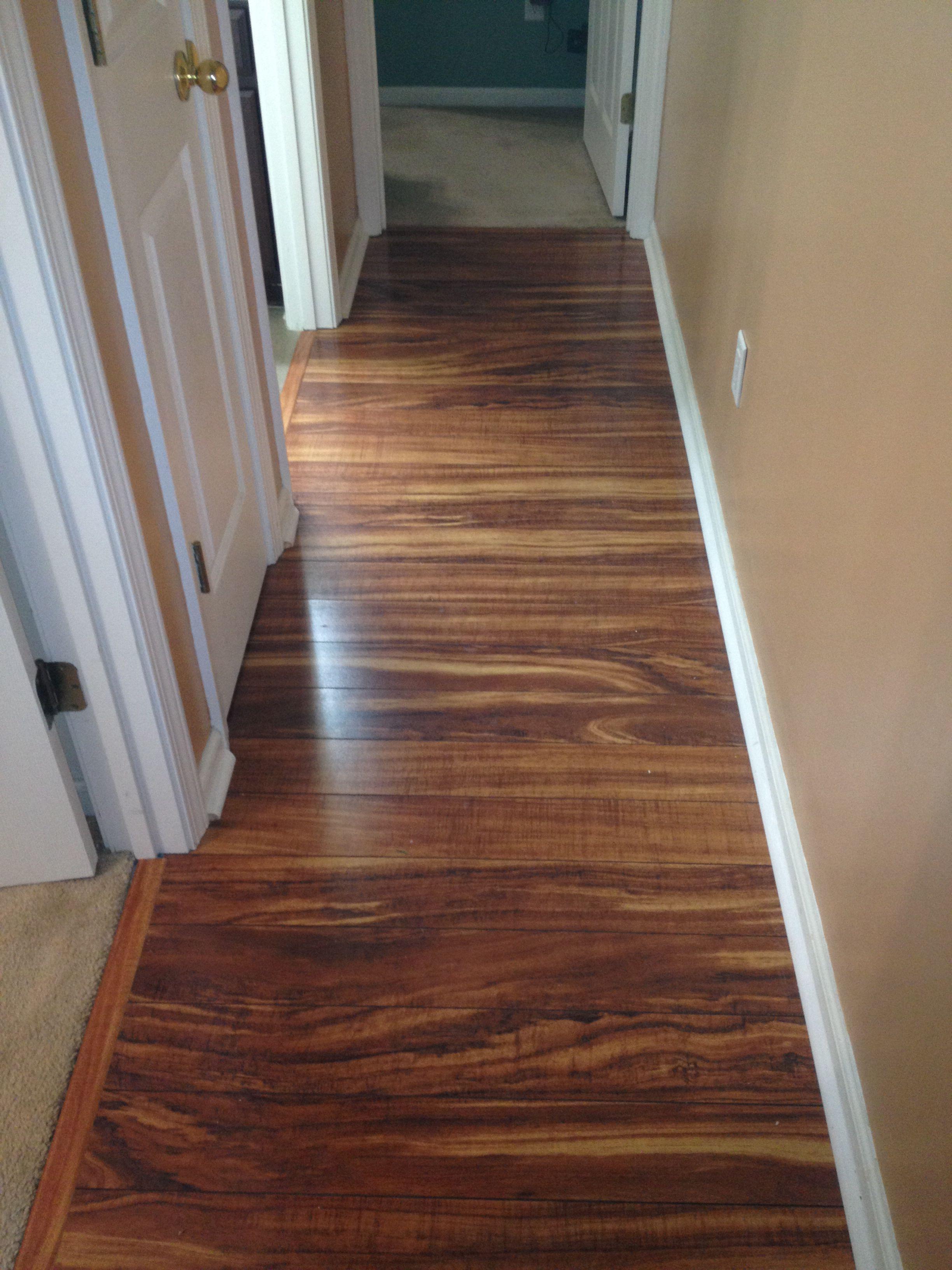 Hallway Pergo Xp In Hawaiian Curly Koa Conceptualtilesolutions Woodlaminant