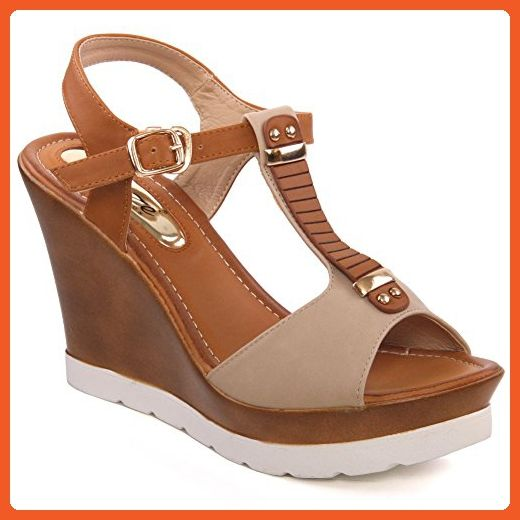 Partner Wedge Amazon Unze Dn5577 Platform For 'fila' Sandals Womens Link Women 15 t4qwCvq