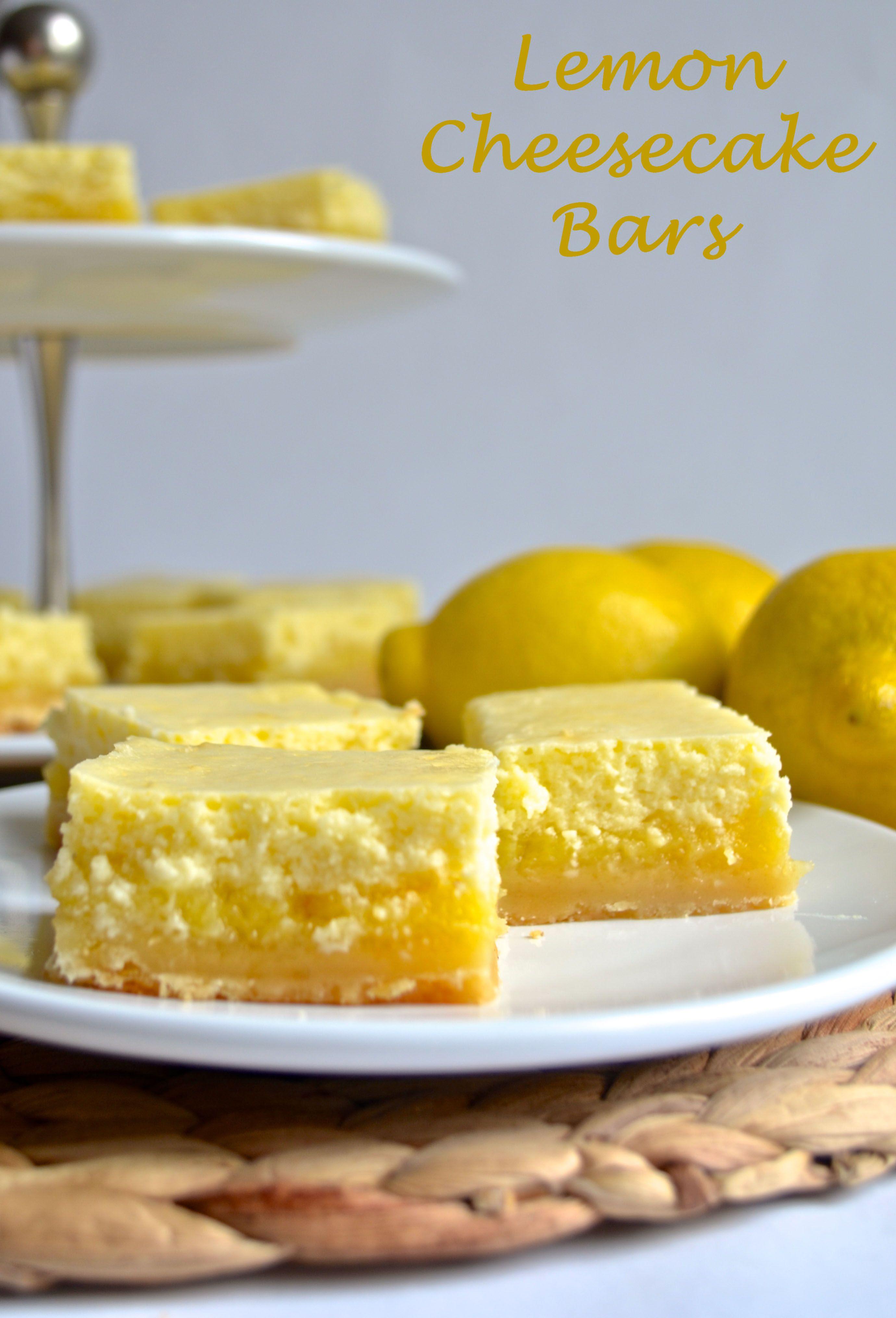 lemon cheesecake bars | pale yellow