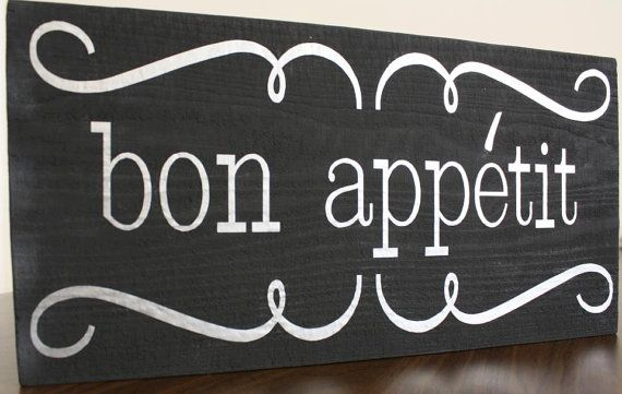 Bon Appetit Kitchen Sign By Signedwithlove On Etsy 25 00