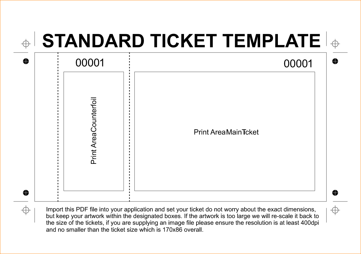 fundraising ticket templates amusing free printable raffle ticket