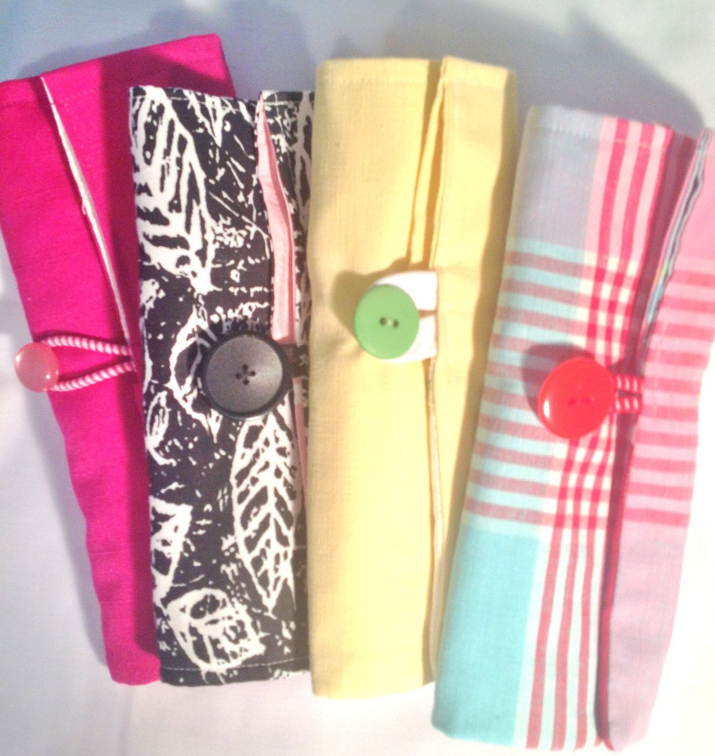 Make-up Brush Roll Up Organizer Pattern and Tutorial Digital Download by belairevillage on Etsy