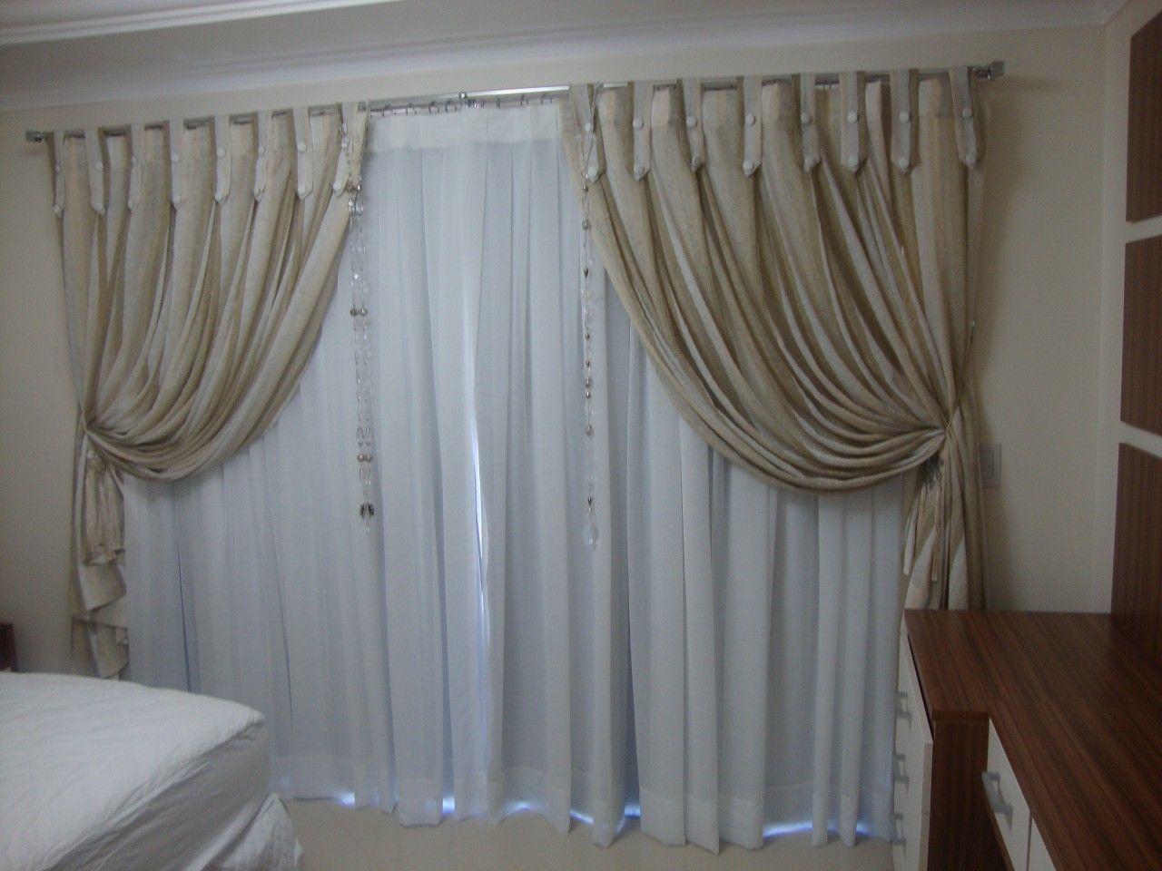 cortinas para quarto  Pesquisa Google  Cortinados  Pinterest  Quartos and