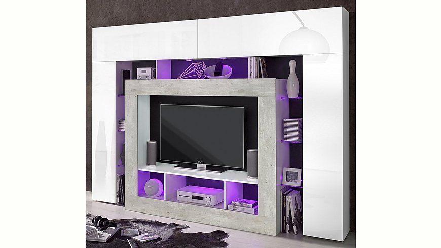 Jetzt Tecnos Mediawand günstig im yourhome Online Shop bestellen - wohnzimmermöbel günstig online kaufen