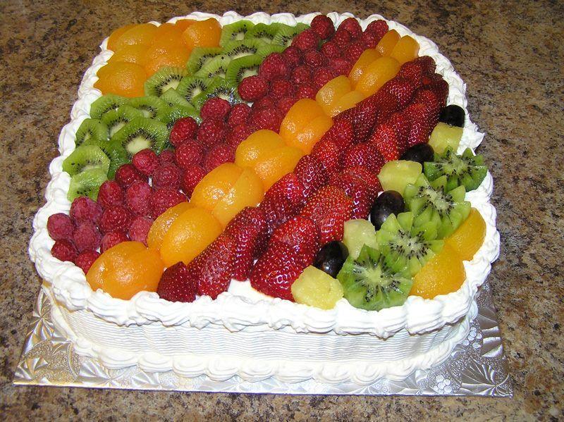 Torta Fria Tropical Com Imagens Bolo De Frutas Queques Bolos