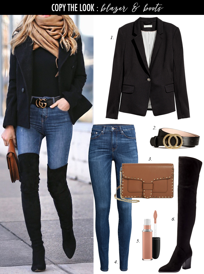 Styling a blazer with over the knee boots LunatiqueNat #Outfit # Casual # blaze …#blaze #blazer #boots #casual #knee #lunatiquenat #outfit #styling – Winter Boots