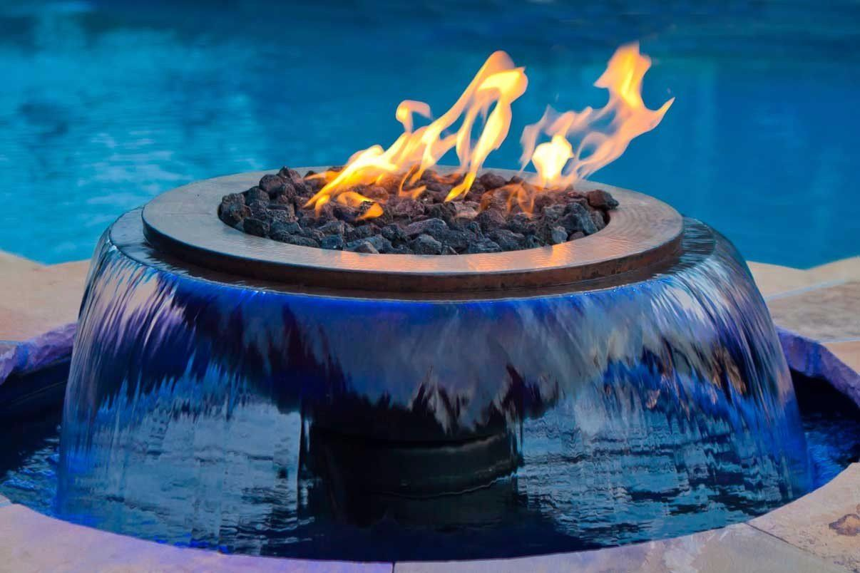 Like Something In A Fantasy Movie Http Www Hpcfire Com Outdoor Outdoor Products Fire Wat Fire Pit With Water Feature Outdoor Fire Pit Outdoor Fire