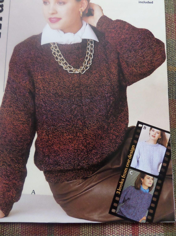 Knitting pattern women ladies 3 styles jumper sweater dk 30 40 knitting pattern women ladies 3 styles jumper sweater dk vintage by craftybylulu on etsy bankloansurffo Choice Image