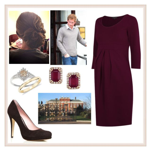 """Celebrating Harrys 30th birthday at Kensington Palace"" by charlottedebora ❤ liked on Polyvore featuring Jimmy Choo, Effy Jewelry and Blue Nile"