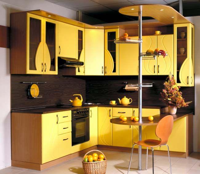 Маленькая жёлтая кухня - 60 фото | Небольшое ...