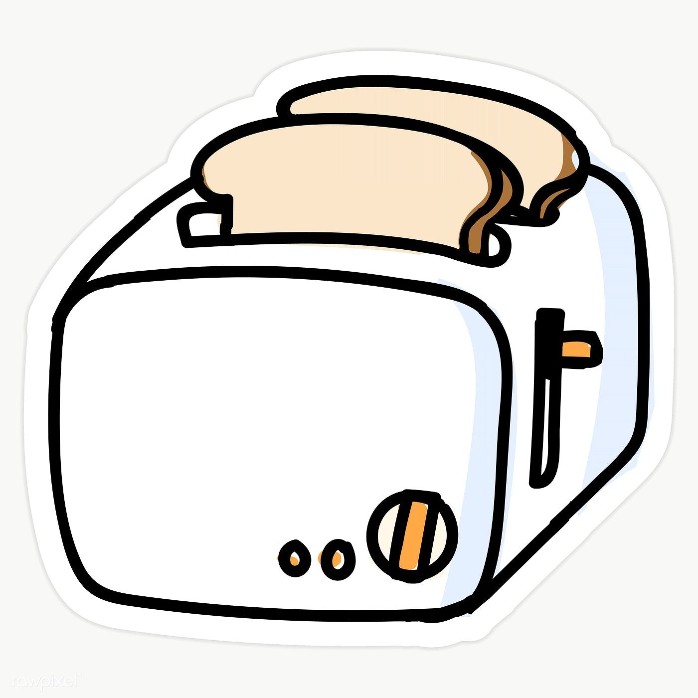 Cute Vintage Toast Cartoon Vector Illustration Motif Set. Stock Vector -  Illustration of bread, utensil: 145754914