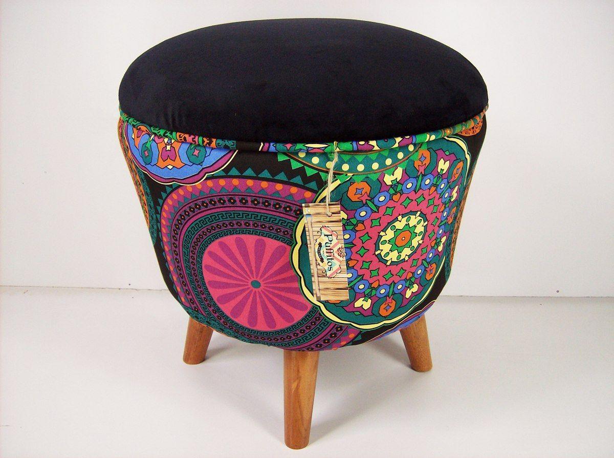 puff vintage con patas conicas calidad - puffitos - | tapizado ...