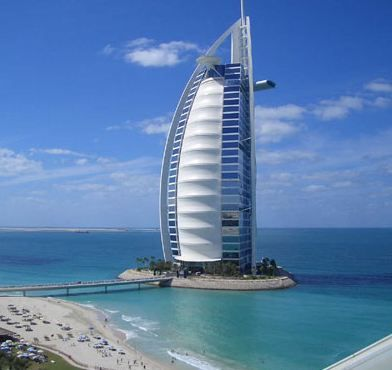 Burj Al Arab, Dubai. Atkins. This hotel is meant to resemble the ...