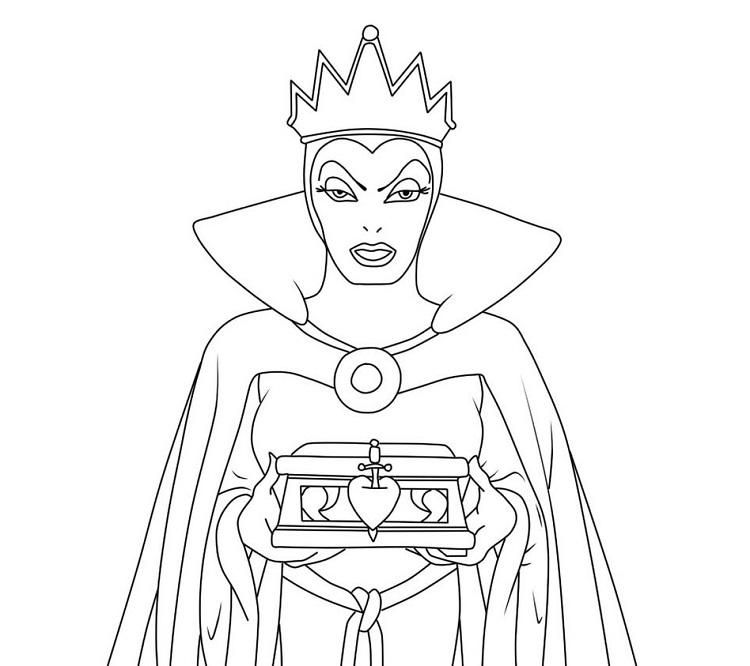 Snow White Evil Queen Coloring Pages Snow White Evil Queen Coloring Pages Evil Queen