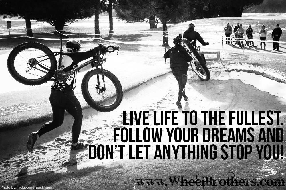 Don't let anything stop you! This site has a TON of motivation just like this! #cycling #fitness #inspiration #motivation