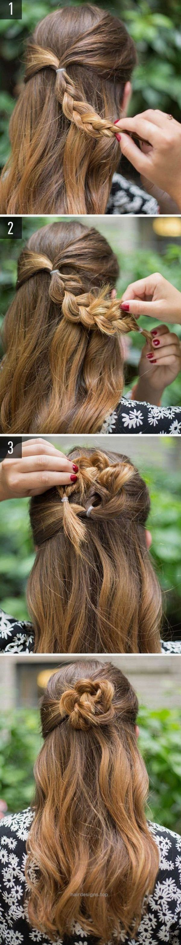 40 Easy Hairstyles for Schools to Try in 2017. Quick, Easy, Cute  and Simple Ste… | Hair Designs