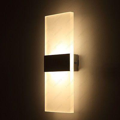 6w Led Wall Mount Light Fixture Bedside Lamp Acrylic Lighting Corridor Lobby Bar Wall Mounted Lamps Sconce Light Fixtures Wall Mounted Light