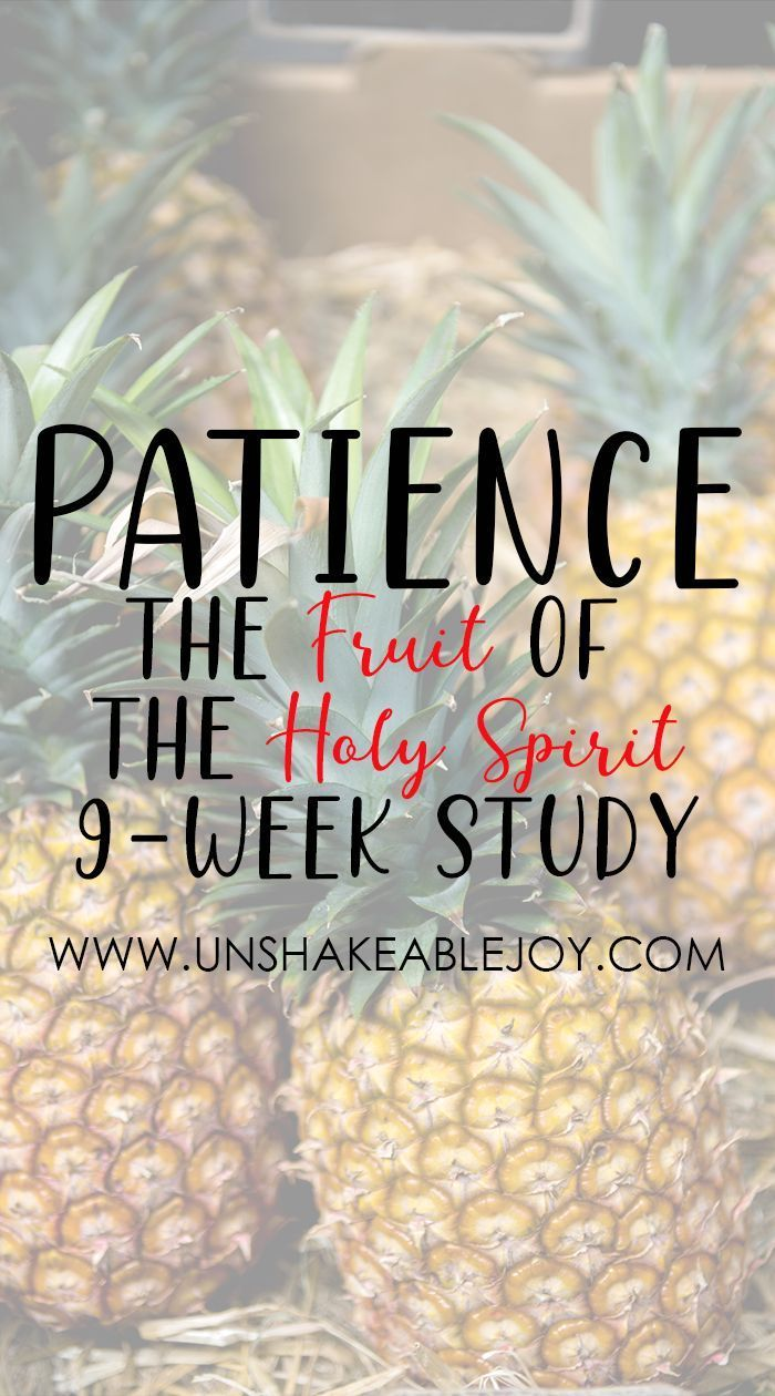 The Fruit of The Holy Spirit: PATIENCE, which is a part from 9 areas of the Fruit of the Spirit Characters. Often, some Christians like us have patience issues, but our spirits keep telling us to control our bits of patience. Let's join and focus on
