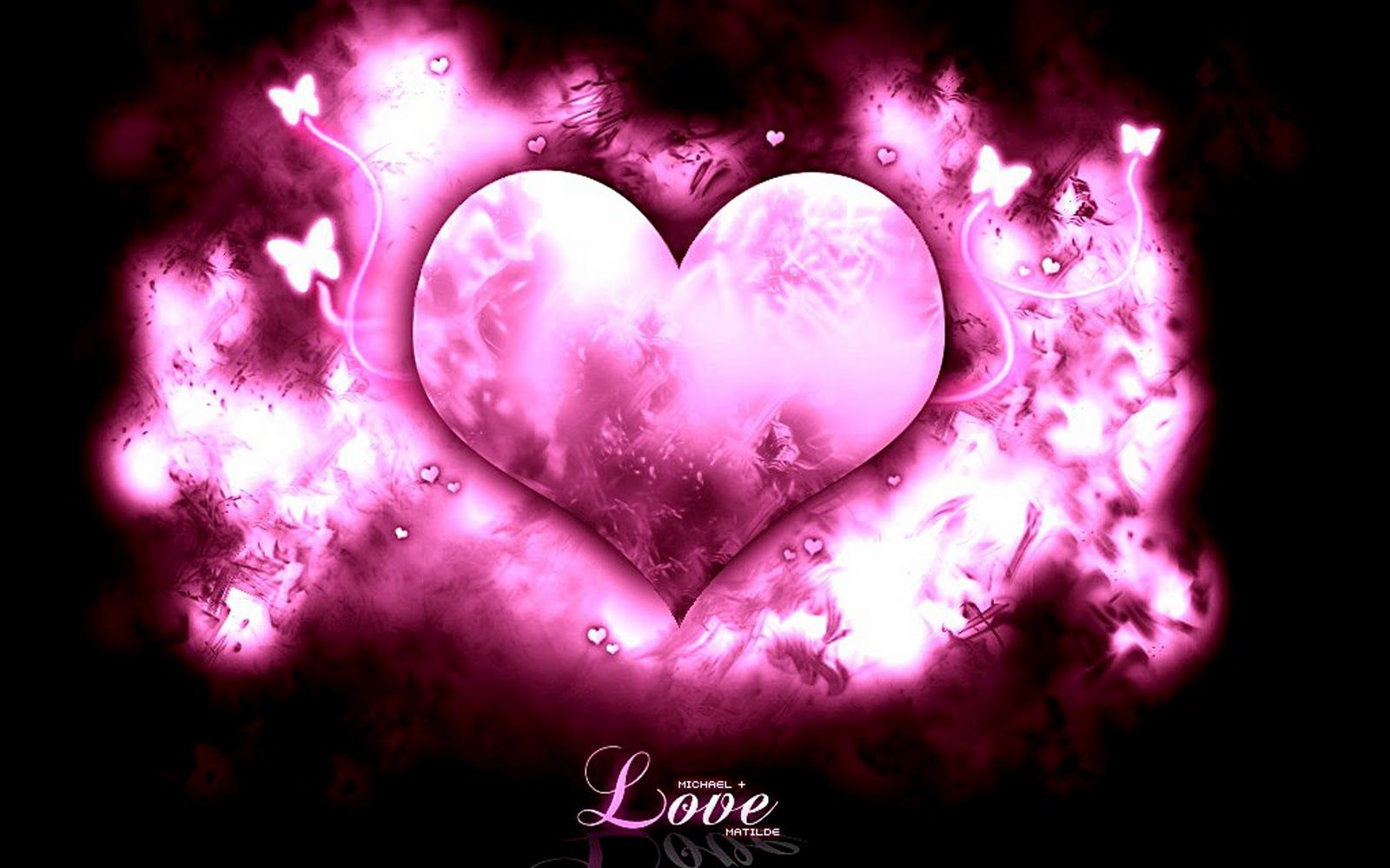 Cute Love Graphics Cute Pink Heart With Pink Shades And Black