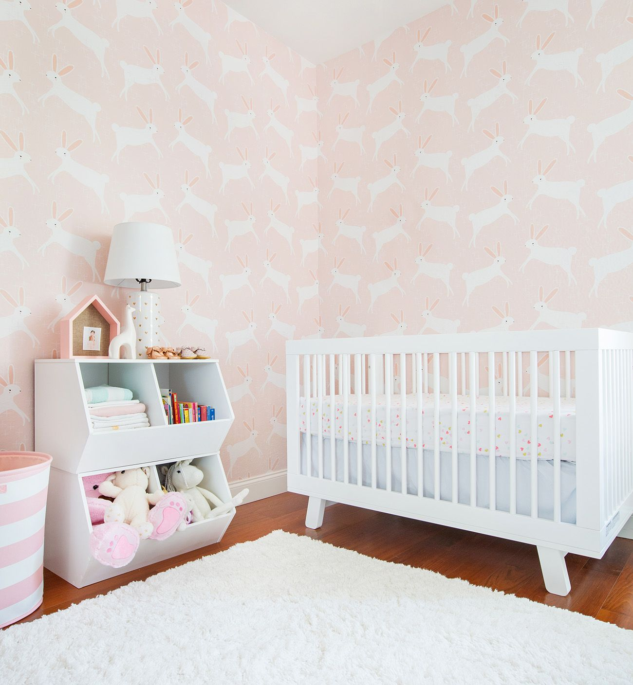 A Pink Bunny Nursery with Target & Emily Henderson Bunny