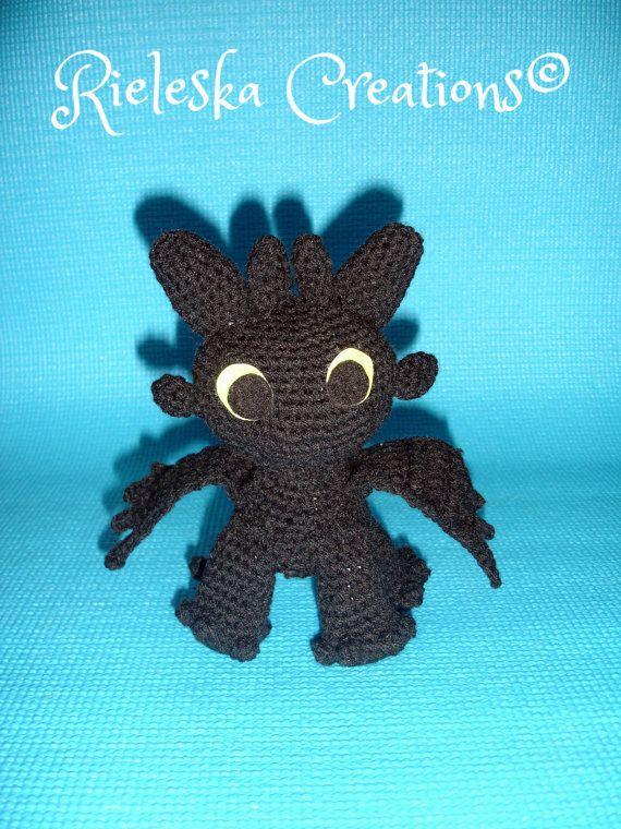 Pdf Crochet Pattern- Toothless Dragon Night Fury- amigurumi/ toy ...