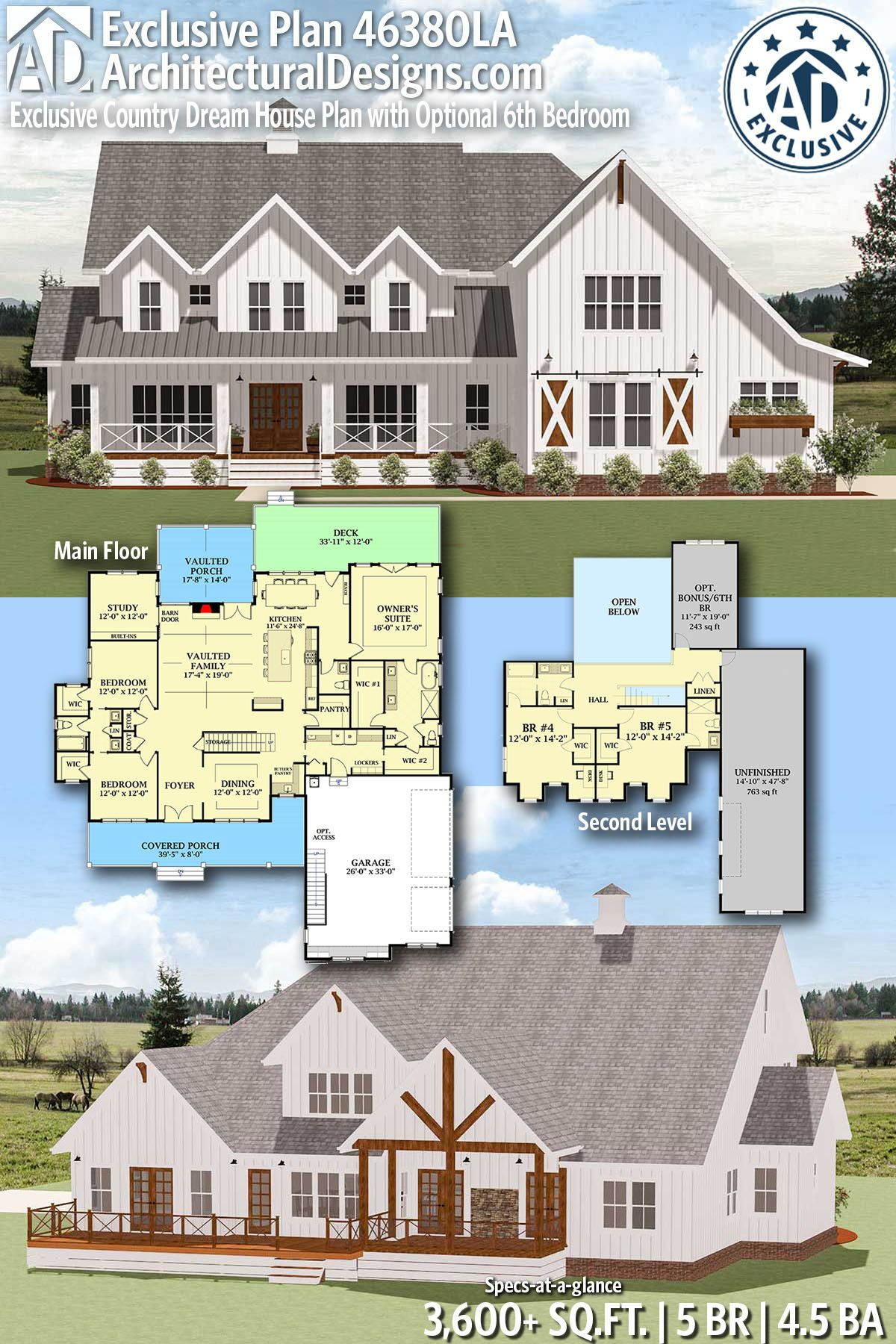 Plan 28914jj Splendid Country Farmhouse Home Plan House Plans Farmhouse Farmhouse Floor Plans Barn House Plans